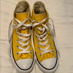 Canary Yellow High Top Converse